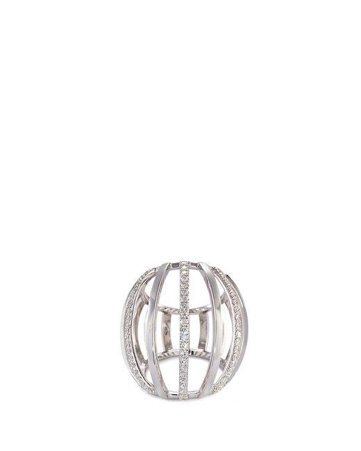 Dauphin | Metallic Diamond 18k White Gold Cage Ring | Lyst