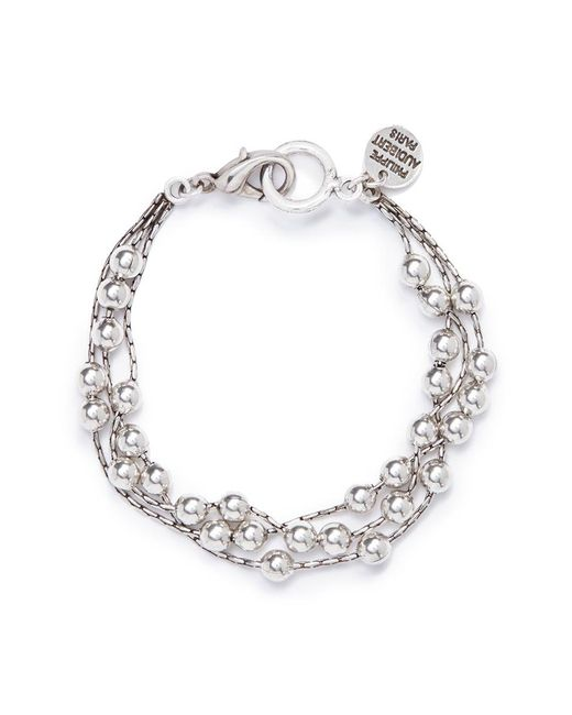 Philippe Audibert | Metallic 'anton' Three Row Bead Bracelet | Lyst