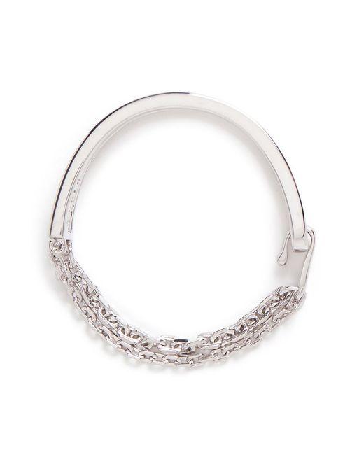W. Britt | Metallic 'thin And Thick Link Lock' Cut-out Bar Bracelet | Lyst