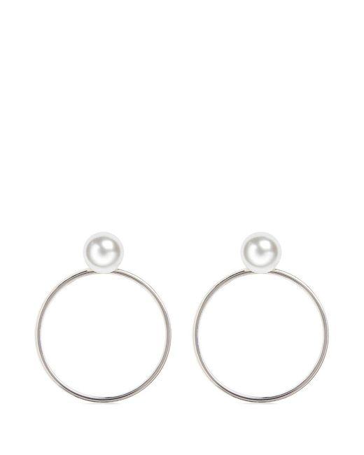 Joomi Lim | Metallic Swarovski Pearl Detachable Hoop Earrings | Lyst