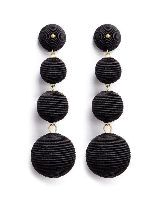 Kenneth Jay Lane | Black 'carnival' Threaded Sphere Drop Earrings | Lyst