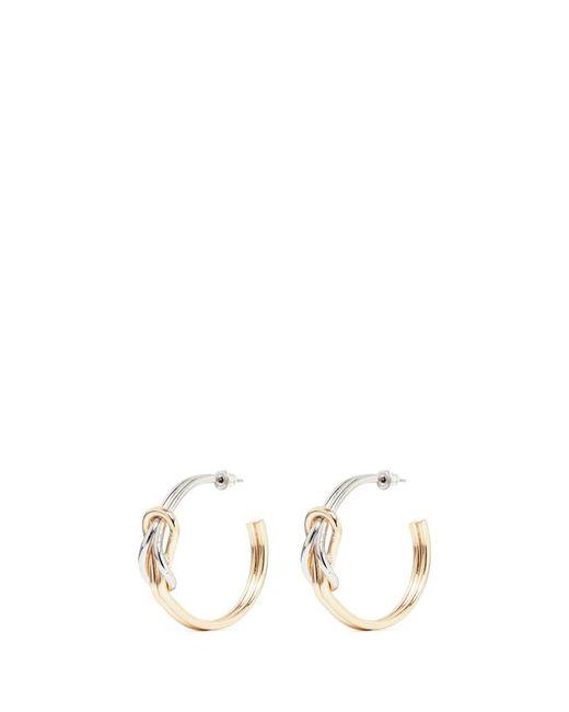 Kenneth Jay Lane | Metallic Knotted Hoop Earrings | Lyst