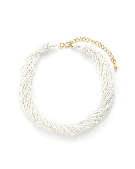 Kenneth Jay Lane | White Beaded Multi Strand Necklace | Lyst