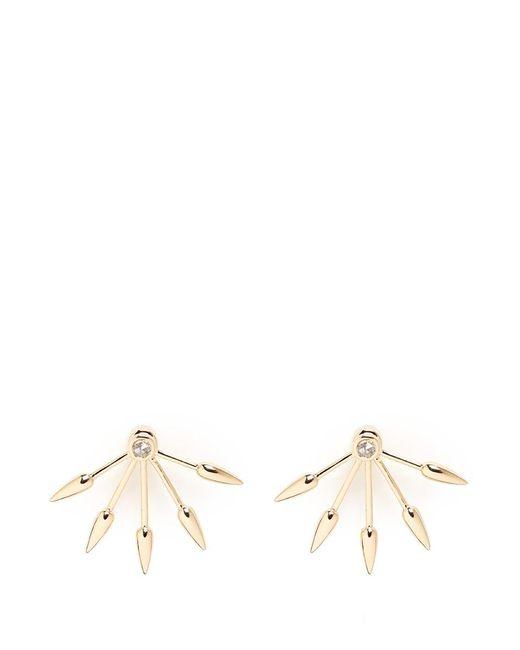 Pamela Love | Metallic 5 Spike' Diamond 18k Yellow Gold Fan Earrings | Lyst