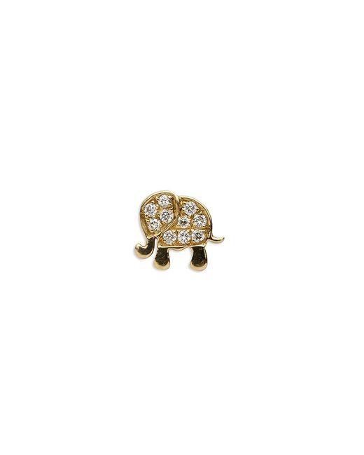 Loquet London | Metallic 18k Yellow Gold Diamond Elephant Charm - Happiness | Lyst