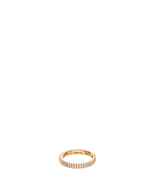 Repossi | Metallic 'berbère Monotype' Pavé Diamond 18k Rose Gold Ring | Lyst