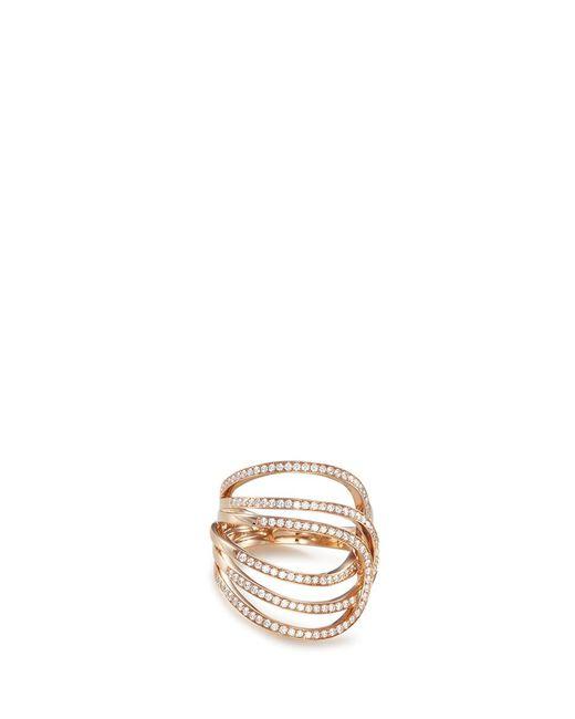 Repossi   Metallic 'la Ligne C' Diamond 18k Rose Gold Ring   Lyst