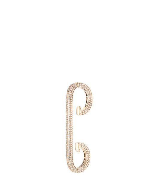 Repossi | Metallic 'staple Small Round' Diamond Pavé 18k Rose Gold Ear Cuff | Lyst