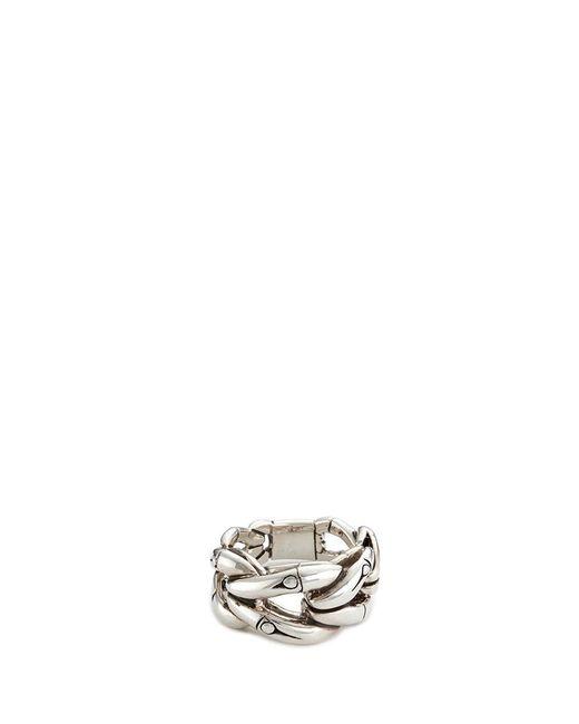 John Hardy | Metallic Silver Bamboo Loop Ring | Lyst