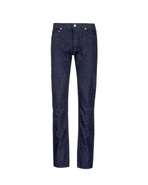 Maison Kitsuné | Blue Slub Denim Jeans for Men | Lyst