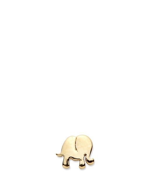 Loquet London | Metallic 14k Yellow Gold Elephant Single Earring - Happiness | Lyst