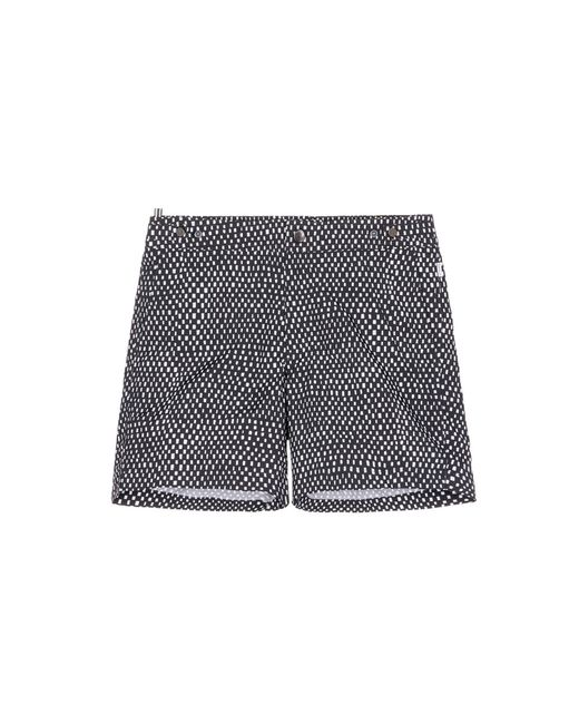 Danward | Black Mid Length Geometric Print Swim Shorts for Men | Lyst