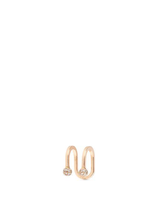 Kim Mee Hye | Multicolor 'double Rocker' Diamond 18k Rose Gold Lip Ring | Lyst