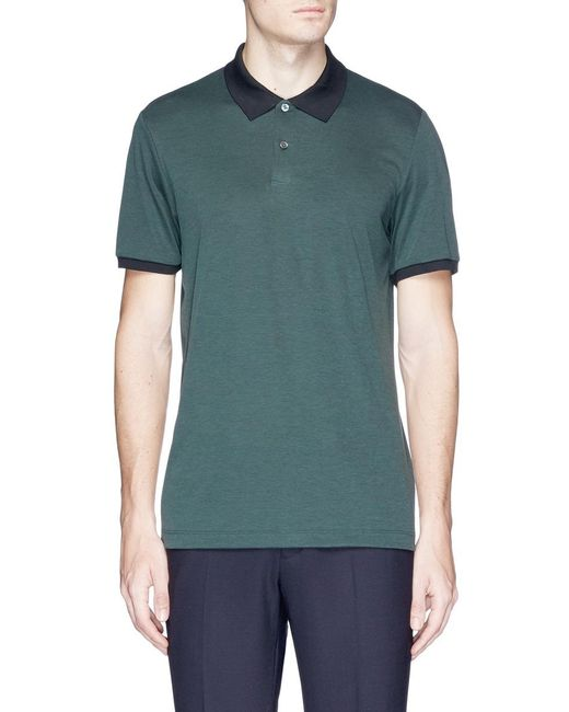 Theory | Green 'band' Polo Shirt for Men | Lyst