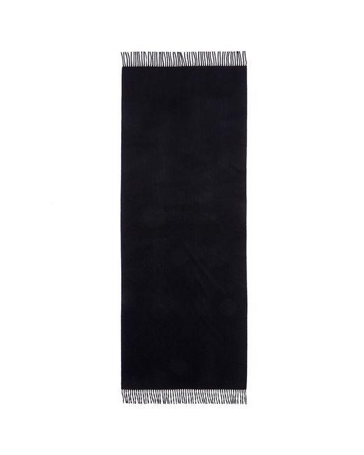 Acne | Black 'canada' Fringed Cashmere Scarf | Lyst