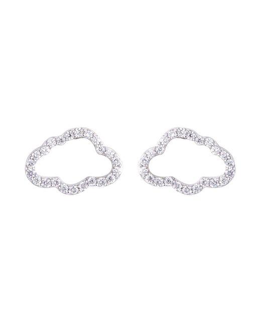 Khai Khai - Metallic Diamond 18k White Gold Cloud Stud Earrings - Lyst