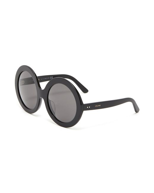 cd77499d0efb Céline - Black Acetate Oversized Round Sunglasses - Lyst ...