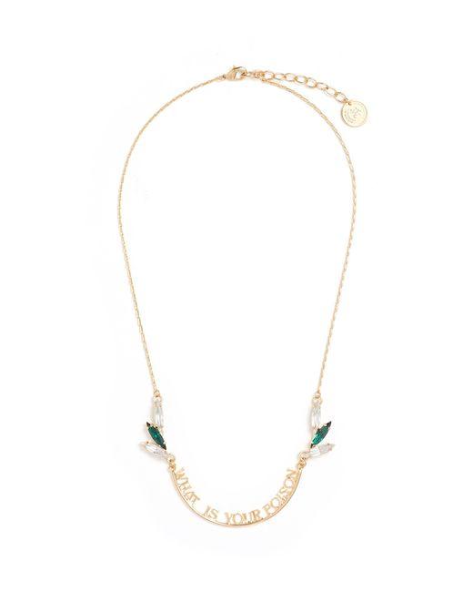 Anton Heunis - Metallic Swarovski Crystal Slogan Pendant Necklace - Lyst