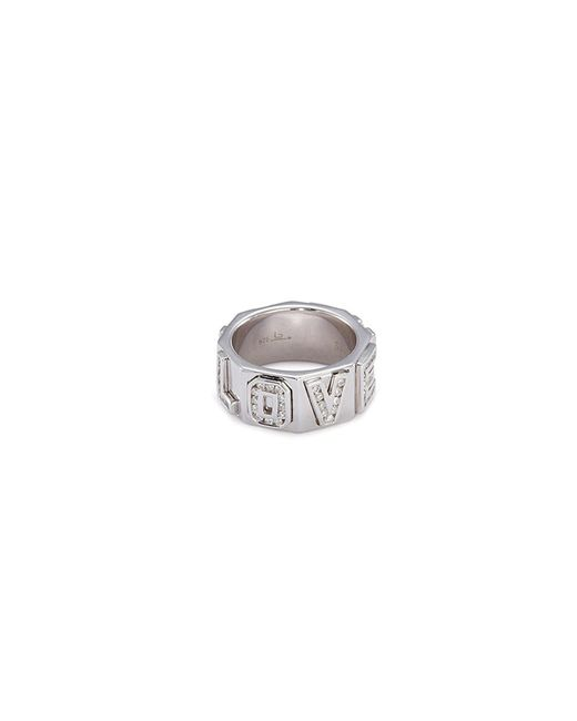 Lynn Ban - Metallic 'i Love You' Diamond Silver Ring - Lyst