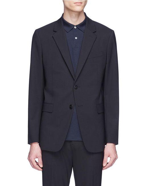 Theory - Black 'chambers' Virgin Wool Soft Blazer for Men - Lyst