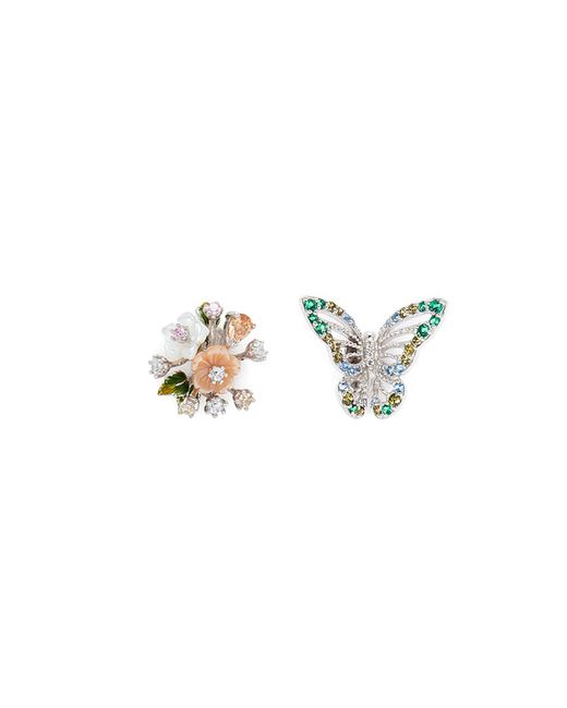 Anabela Chan - Multicolor 'butterfly Bouquet' Mismatched Stud Earrings - Lyst