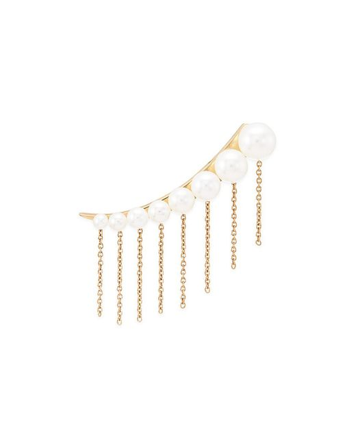 Sophie Bille Brahe - Metallic X Sacai 001 Short Chain Fringe Pearl Single Creeper Earring - Lyst