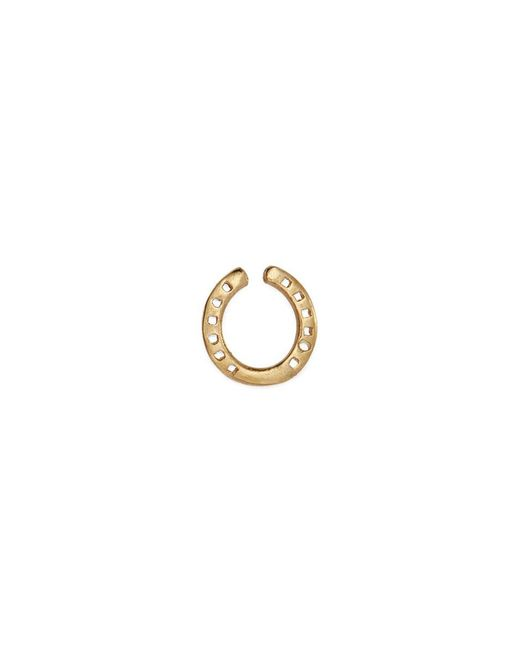 Loquet London | Metallic 18k Yellow Gold 'horseshoe' Charm – Protection | Lyst