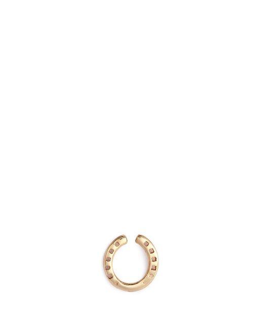 Loquet London | Metallic 'horseshoe' 14k Yellow Gold Single Stud Earring – Protection | Lyst