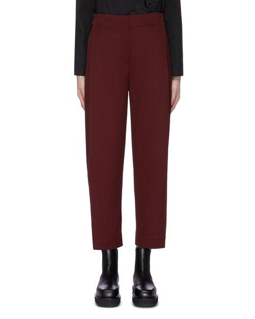 Ffixxed Studios Red Grosgrain Waist Suiting Pants