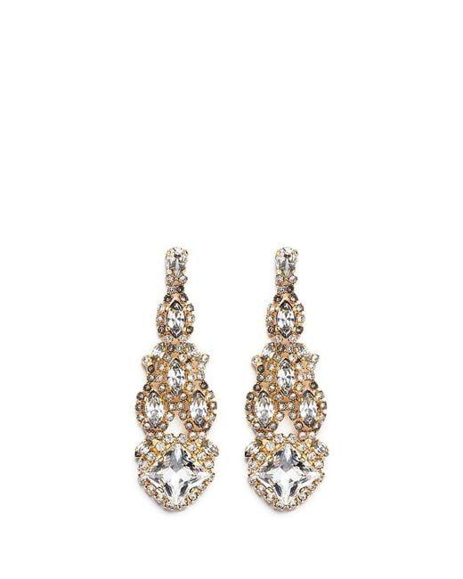 Erickson Beamon | Metallic Swarovski Crystal Chandelier Earrings | Lyst