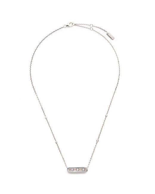 Messika   Metallic 'baby Move' Diamond 18k White Gold Necklace   Lyst