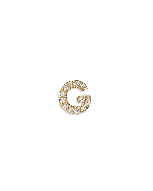 Loquet London - Pink Diamond 18k Yellow Gold Letter Charm - G - Lyst