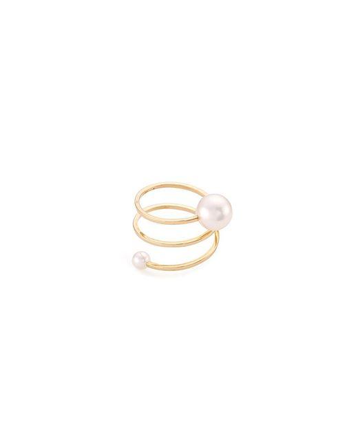 Sophie Bille Brahe - Metallic 'louise Grand' Akoya Pearl 14k Yellow Gold Spiral Ring - Lyst