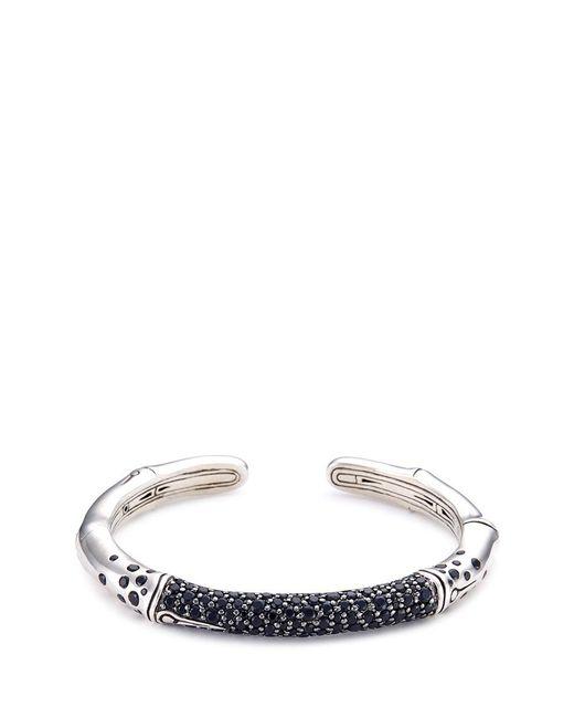 John Hardy | Metallic Sapphire Silver Bamboo Cuff | Lyst