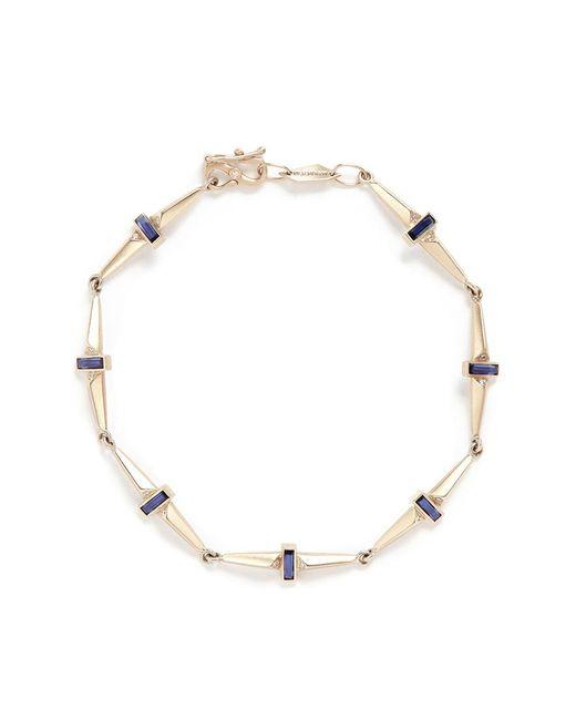 Monique Péan | Metallic Sapphire Diamond 18k Recycled White Gold Trapezoid Link Bracelet | Lyst