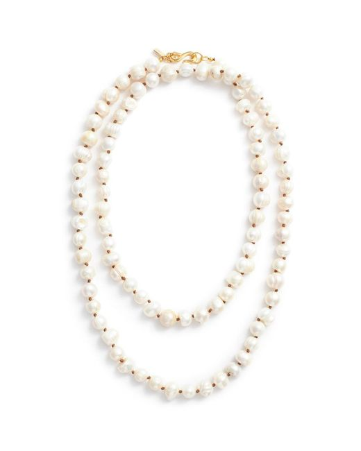 Kenneth Jay Lane - White Baroque Freshwater Pearl Necklace - Lyst