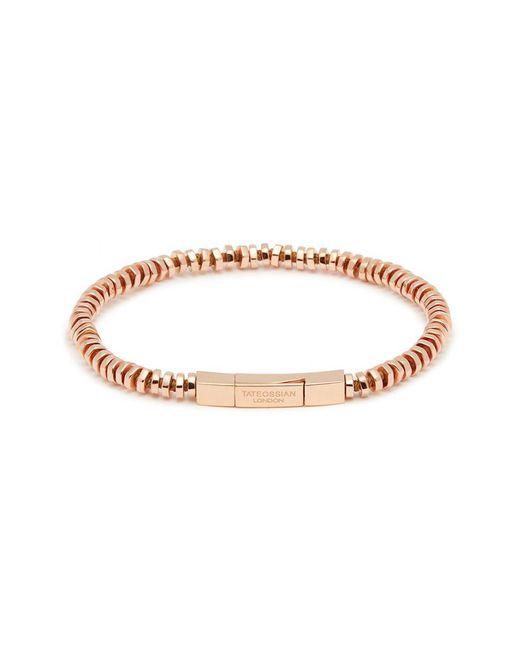 Tateossian - Metallic 'mini Click' Rose Gold Silver Disc Bead Bracelet for Men - Lyst