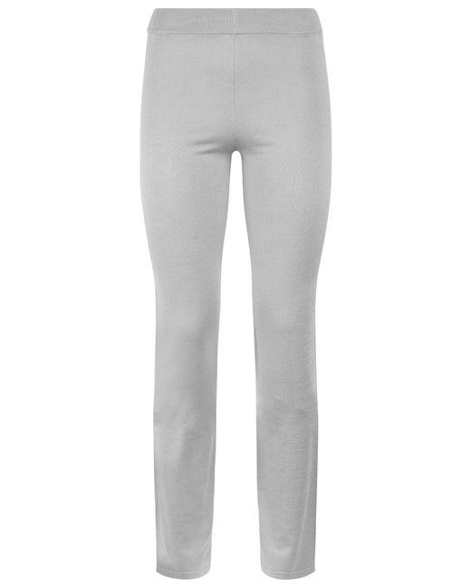 La Perla   Gray Bi-stretch Silk Trouser   Lyst