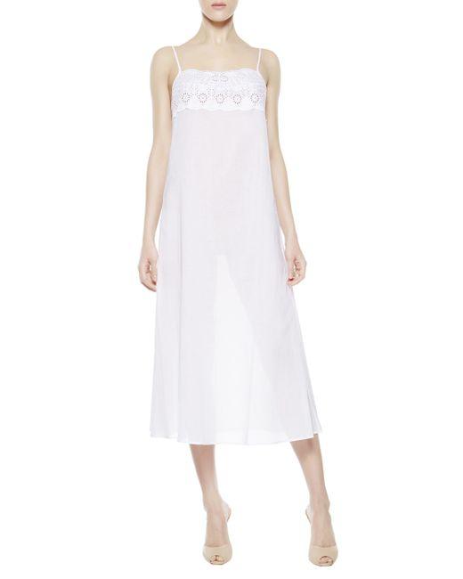 La Perla   White Night Dress   Lyst