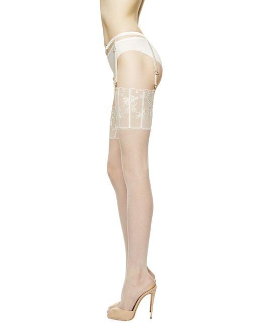 La Perla | Natural Suspender Stockings Floralia | Lyst