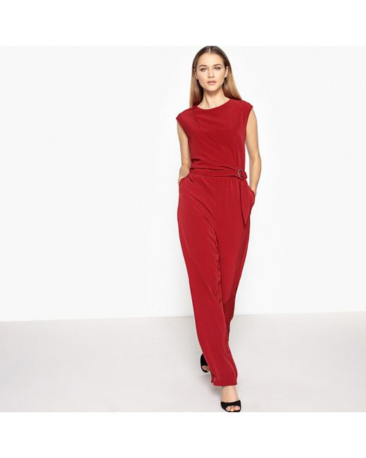 LA REDOUTE - Red Knotted-waist Jumpsuit - Lyst