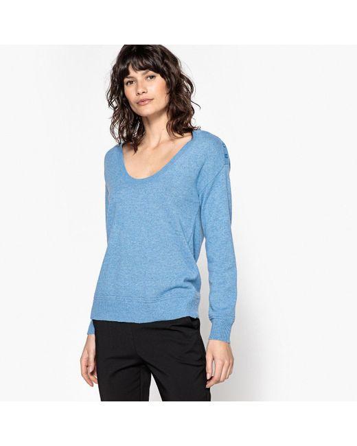LA REDOUTE | Blue V-neck Pure Cashmere Jumper/sweater | Lyst
