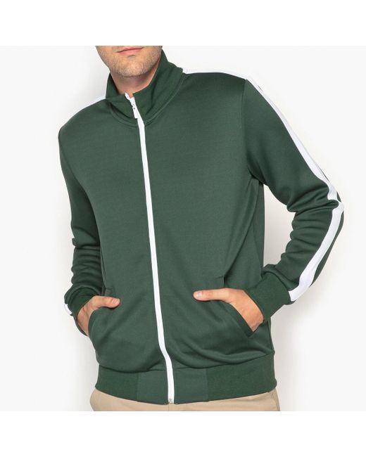 LA REDOUTE | Green High Neck Zip-up Sweatshirt for Men | Lyst