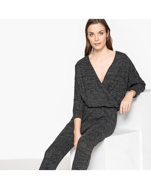 LA REDOUTE - Gray Plain Jumpsuit - Lyst