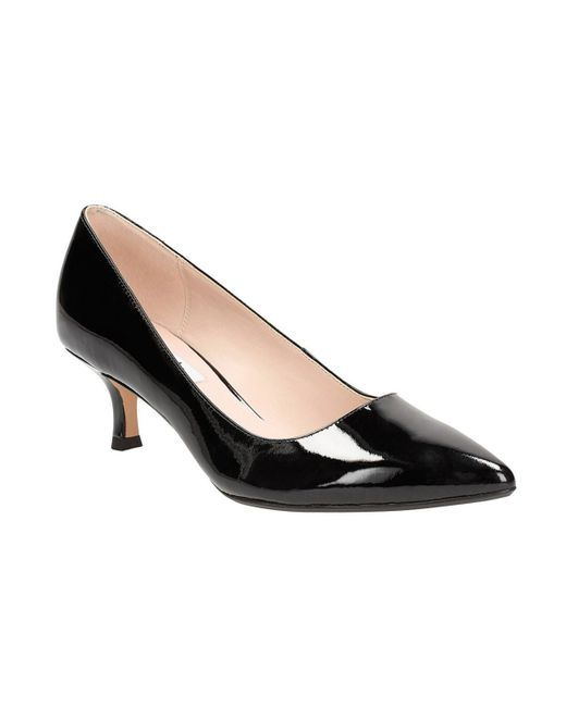 clarks aquifer soda patent leather shoes in black lyst
