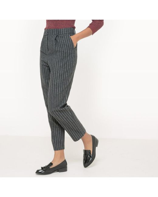 la redoute trousers made in france in grey lyst. Black Bedroom Furniture Sets. Home Design Ideas