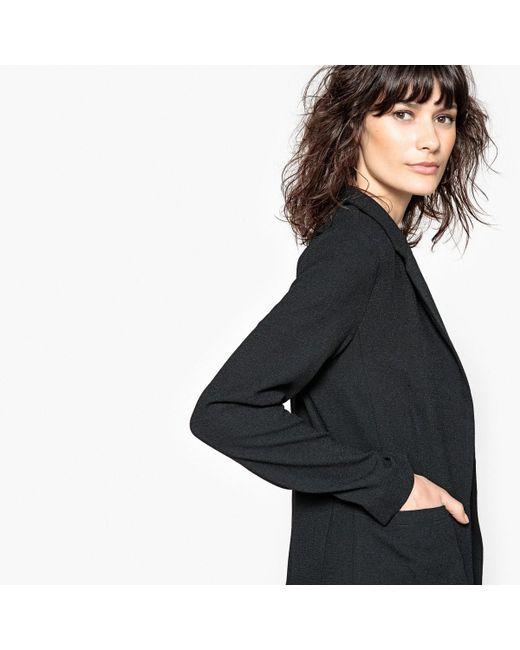 LA REDOUTE   Black Straight Cut Blazer   Lyst