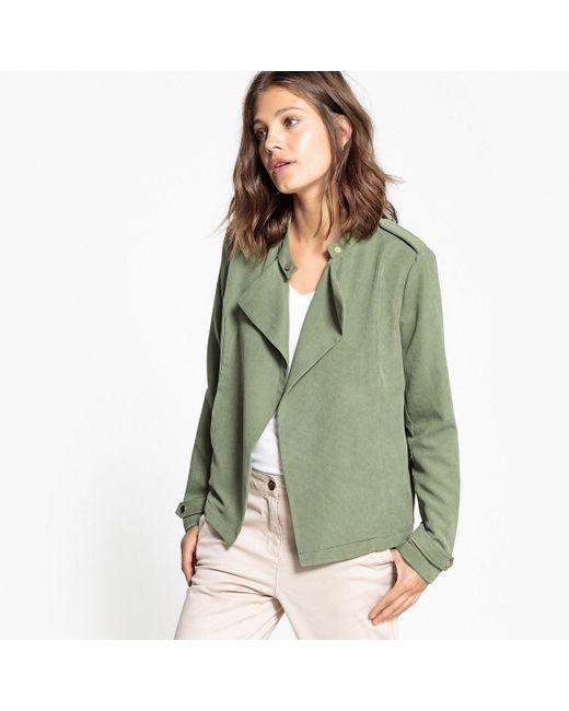 Vila | Green Straight Cut Jacket | Lyst