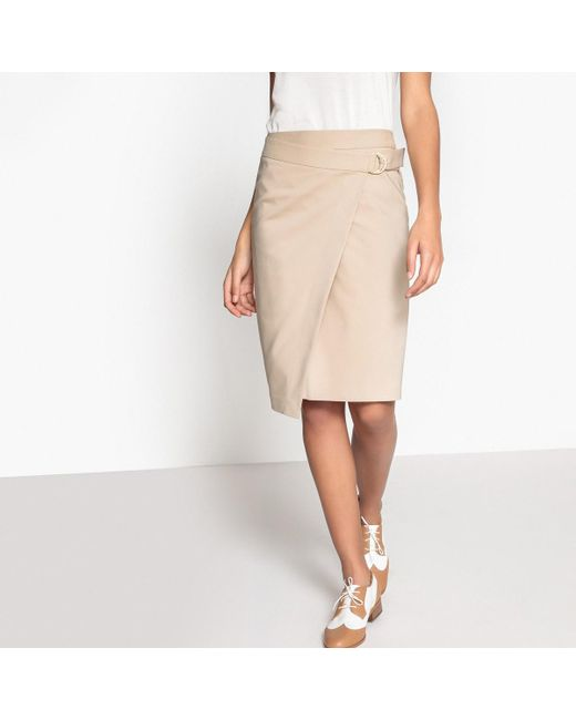 LA REDOUTE | Natural Wrap Skirt With Belt | Lyst