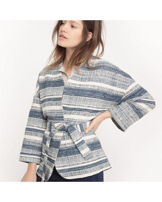 LA REDOUTE | Blue Jacquard Printed Kimono Jacket | Lyst